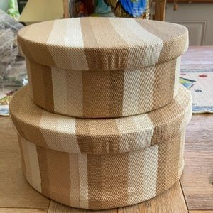 NWT Pair of striped storage containers